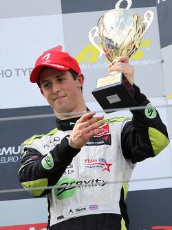 Podium: 3de Alexander Sims, ART Grand Prix Dallara F308 Mercedes