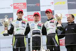 Podium: race winner Antonio Felix da Costa, Motopark Academy Dallara F308 Volkswagen, second place Marco Wittmann, Signature Dallara F308 Volkswagen, third place Alexander Sims, ART Grand Prix Dallara F308 Mercedes