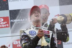Podium: race winner Antonio Felix da Costa, Motopark Academy Dallara F308 Volkswagen celebrates with