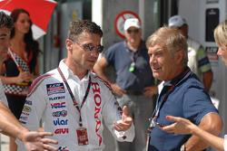 LCR Honda MotoGP manager Lucio Cecchinello with Giacomo Agostini