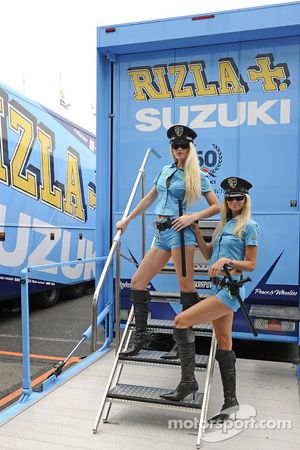 Очаровательные девушки Rizla Suzuki