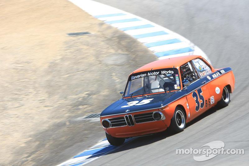 Tom Brecht, 1968 BMW 2002 T/A at Monterey Motorsports Reunion