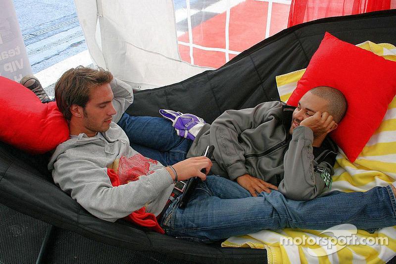Jean-Eric Vergne relaxing
