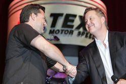 Tony Stewart, Stewart-Haas Racing & Brian France, PDG et président du conseil d'administration de la