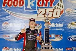 Victory lane race winner Kyle Busch