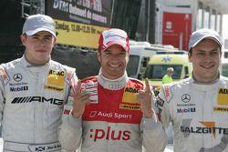 Kwalificaties: 3de Paul di Resta, Team HWA AMG Mercedes C-Klasse, 1ste Timo Scheider, Audi Sport Tea
