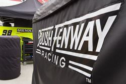 Roush Fenway Racing boxes in the pits before the race