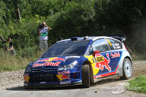 Kimi Raikkonen and Kaj Lindstrom, Citroen C4 WRC, Citroen Junior Team