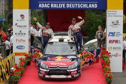 Podium: third place Sébastien Ogier and Julien Ingrassia, Citroën C4 WRC, Citroën Junior Team