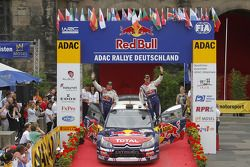 Podium: third place Sébastien Ogier and Julien Ingrassia, Citroën C4 WRC, Citroën Junior Team