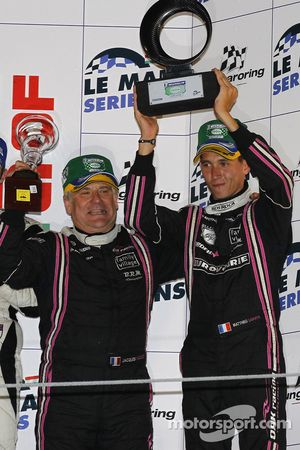 LMP2 podium: third place Mathieu Lahaye and Jacques Nicolet