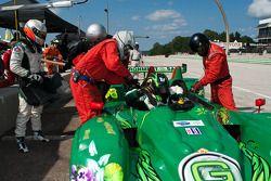 Pitstop #36 Genoa Racing Oreca FLM09: Frankie Montecalvo, Christian Zugel