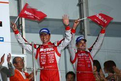 GT500 podium 2nd place: #23 Motul Autech GT-R: Satoshi Motoyama, Benoit Treluyer