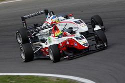 Roberto Merhi, Muecke Motorsport Dallara F308 Mercedes, Alexander Sims, ART Grand Prix Dallara F308 Mercedes