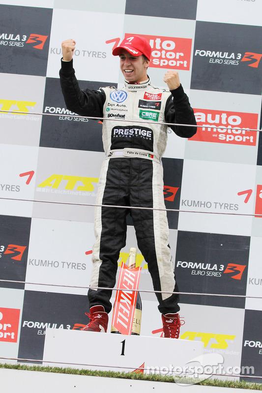 Podium: race winner Antonio Felix da Costa, Motopark Academy Dallara F308 Volkswagen