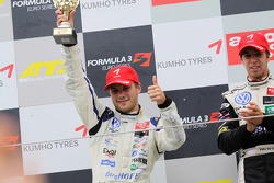 Podium: race winner Antonio Felix da Costa, Motopark Academy Dallara F308 Volkswagen, second place Laurens Vanthoor, Signature Dallara F308 Volkswagen
