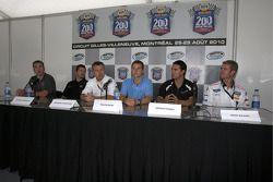 Pre-event press conference: J.R. Fitzpatrick, Patrick Carpentier, event promoter François Dumontier, Trevor Bayne, Andrew Ranger and Mark Wilkins