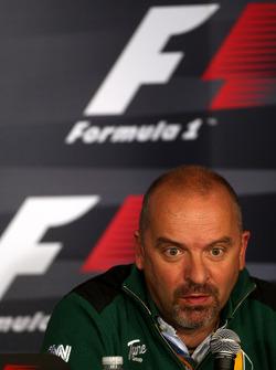 Conférence de presse du vendredi : Mike Gascoyne, Directeur Technique Lotus F1 Team
