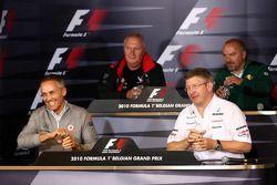 Vrijdag persconferentie: Martin Whitmarsh, McLaren, Chief Executive Officer, John Booth, Virgin Raci