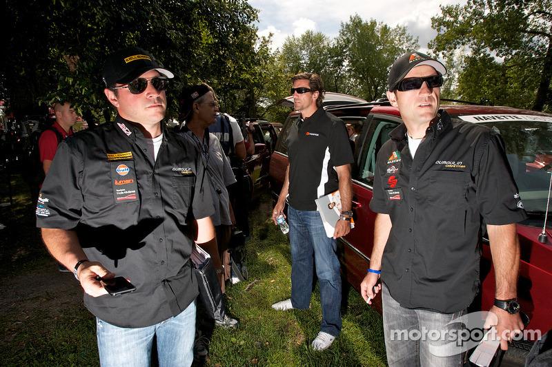 NASCAR Canadian Tire Series rijders Jean-François Dumoulin en Louis-Philippe Dumoulin