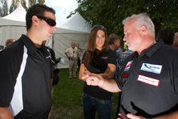 Pilote de NASCAR Nationwide Series : Andrew Ranger, pilote de NASCAR Canadian Tire Series : Maryeve Dufault et pilote de Québec F1600 Didier Schraenen