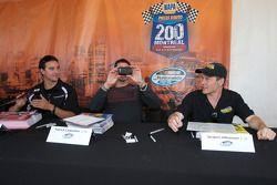 NASCAR Nationwide Series rijders Andrew Ranger, Patrick Carpentier en Jacques Villeneuve