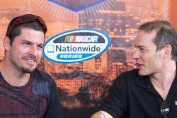 NASCAR Nationwide Series rijders Patrick Carpentier en Jacques Villeneuve