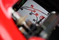 Circuitkaart in de cockpit van Felipe Massa, Scuderia Ferrari
