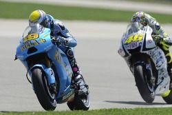 Alvaro Bautista, Rizla Suzuki MotoGP et Valentino Rossi, Fiat Yamaha Team