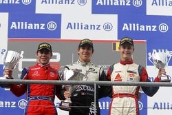 Podium: race winner Robert Wickens, second place Leonardo Cordeiro, third place Pal Varhaug