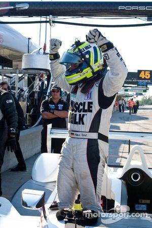Poleman pour le Grand Prix Mobil1 de Mosport, #6 Team Cytosport Porsche RS Spyder : Klaus Graf