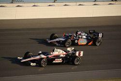 Ryan Briscoe, Team Penske and Dario Franchitti, Target Chip Ganassi Racing