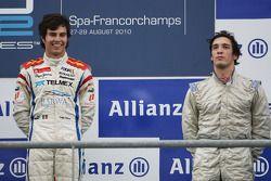 Podium : le vainqueur Sergio Perez et le troisième Alvaro Parente