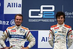 Podium : le vainqueur Sergio Perez et le second Giedo van der Garde