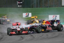 Problemen voor Sebastian Vettel, Red Bull Racing en Jenson Button, McLaren Mercedes