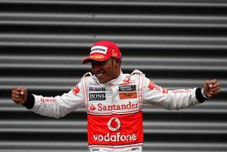 Podium: Sieger Lewis Hamilton