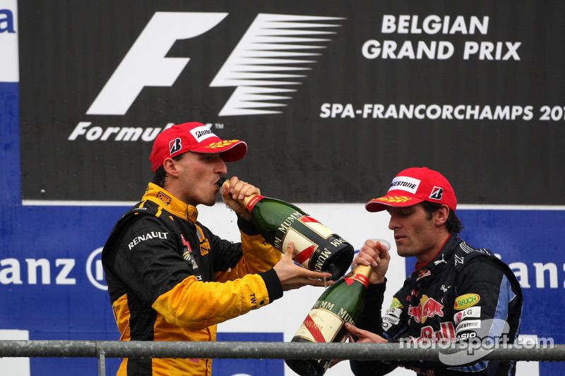Podium: second place Mark Webber, third place Robert Kubica
