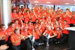 McLaren Mercedes team celebrates