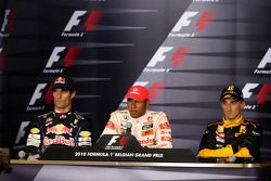 Post-race press conference: race winner Lewis Hamilton, second place Mark Webber, third place Robert
