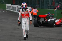 Trouble for Jenson Button, McLaren Mercedes