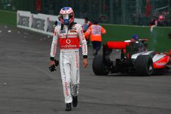 Trouble for Jenson Button, McLaren Mercedes
