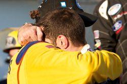 Victory lane: race winnaar Boris Said met Max Papis