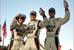 Race winners Romain Dumas, Klaus Graf and Greg Pickett