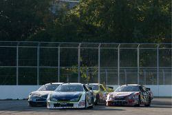 Robby Gordon, Boris Said, Max Papis and Jacques Villeneuve battle for the lead