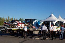 Car of Jason Leffler back in the garage