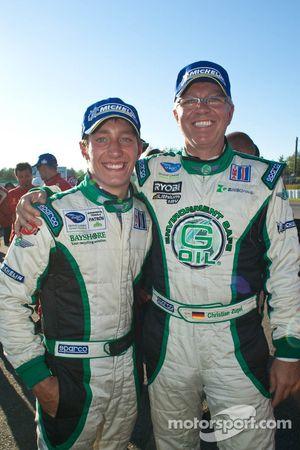 Frankie Montecalvo & Christian Zugel fête la victoire du Genoa Racing lors du Grand Prix de Mosport