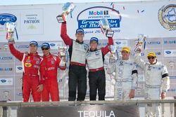 Podium GT : #45 Flying Lizard Motorsports Porsche 911 GT3 RSR: Jürg Bergmeister, Patrick Long,#62 Ri