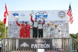 Podium GT : #45 Flying Lizard Motorsports Porsche 911 GT3 RSR: Jürg Bergmeister, Patrick Long,#62 Risi Competizione Ferrari F430 GT: Toni Vilander, Gianmaria Bruni,#92 BMW Rahal Letterman Racing Team BMW M3 GT: Bill Auberlen, Tom Milner