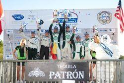Podium LMPC : #99 Green Earth Team Gunnar Oreca FLM09: Gunnar Jeannette,#55 Level 5 Motorsports Orec