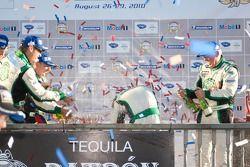 Podium LMPC : #36 Genoa Racing Oreca FLM09: Frankie Montecalvo, Christian Zugel,#99 Green Earth Team Gunnar Oreca FLM09: Gunnar Jeannette